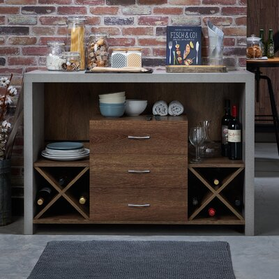 Loganville Contemporary Server Color: Distressed Walnut