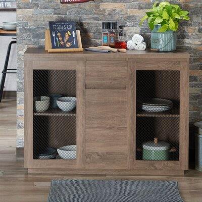 Lakeasha Contemporary Buffet Table Color: Chestnut Brown