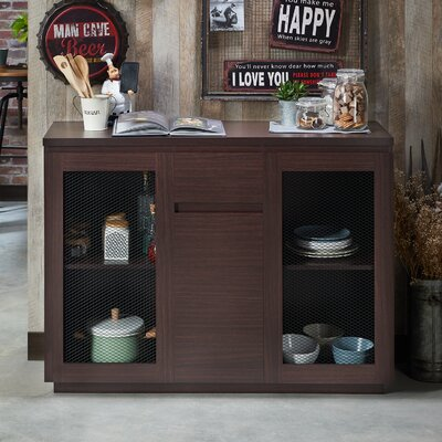 Lakeasha Contemporary Buffet Table Color: Walnut