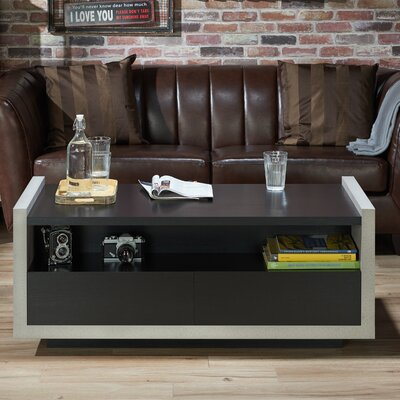 Luzerne Contemporary Coffee Table with Magazine Rack Finish: Black