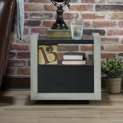 Evony Contemporary End Table Finish: Black