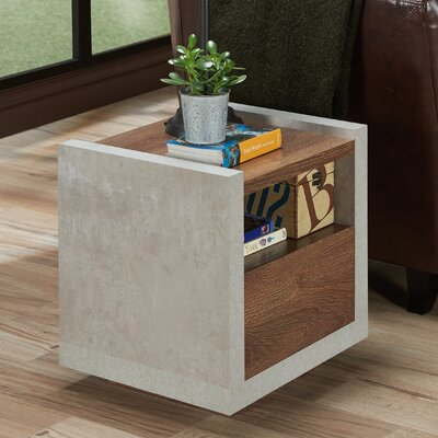Evony Contemporary End Table Color: Distressed Walnut
