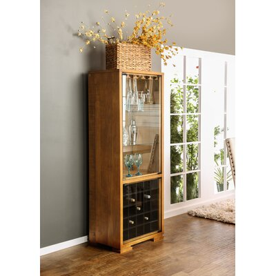 Caswell Transitional Floor Wine Cabinet