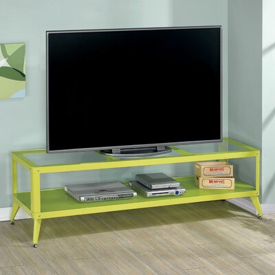 Franklinville Contemporary TV Stand Color: Green, Width of TV Stand: 72