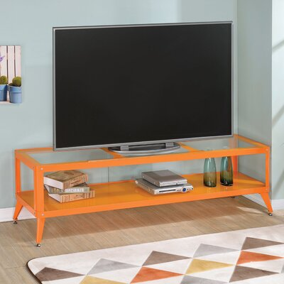 Franklinville Contemporary TV Stand Color: Orange, Width of TV Stand: 60