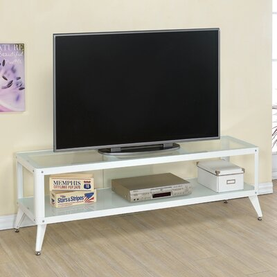 Franklinville Contemporary TV Stand Color: White, Width of TV Stand: 72