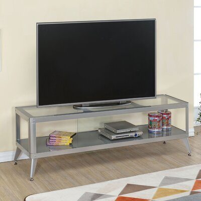 Franklinville Contemporary TV Stand Color: Silver, Width of TV Stand: 72