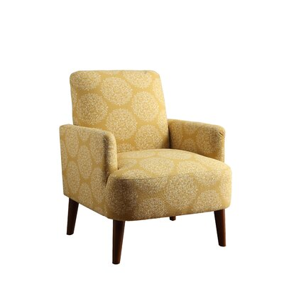 Eugenia Arm Chair Upholstery: Yellow Dandelion
