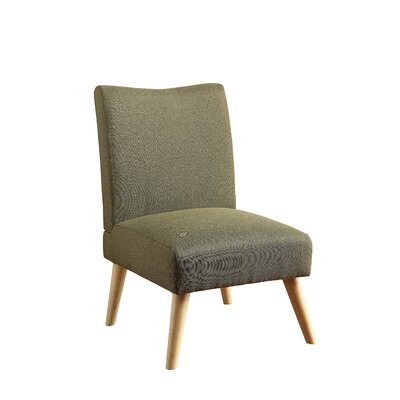 Stannard Contemporary Side Chair Upholstery: Green