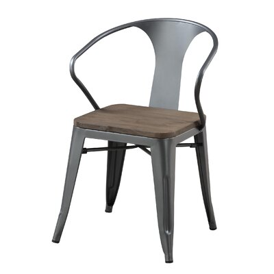 Fort Fairfield Industrial Solid Wood Dining Chair