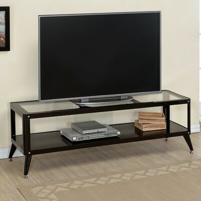 Franklinville Contemporary TV Stand Color: Black, Width of TV Stand: 60