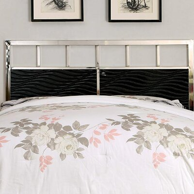Edinburg Contemporary Panel Headboard Color: Black