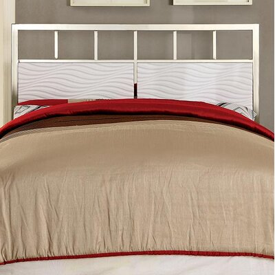 Edinburg Contemporary Panel Headboard Color: White