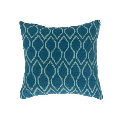 Estelle Contemporary Throw Pillow Size: 22 x 22, Color: Blue