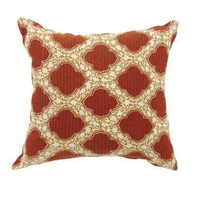 Socorro Contemporary Throw Pillow Size: 18 x 18, Color: Red