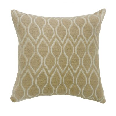 Estelle Contemporary Throw Pillow Color: Beige, Size: 18 x 18