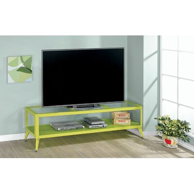 Franklinville Contemporary 60-72 TV Stand Color: Green, Width of TV Stand: 60