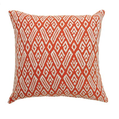 Benahid Contemporary Throw Pillow Size: 18 x 18, Color: Red
