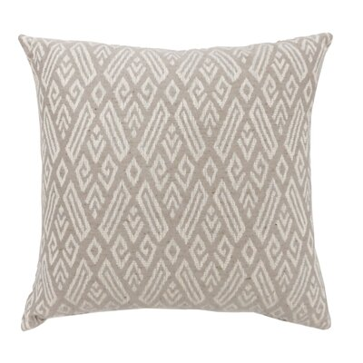 Benahid Contemporary Throw Pillow Color: Beige, Size: 22 x 22