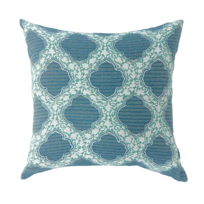 Socorro Contemporary Throw Pillow Color: Blue, Size: 18 x 18