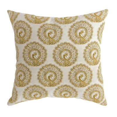 Turton Contemporary Throw Pillow Size: 18 x 18, Color: Yellow