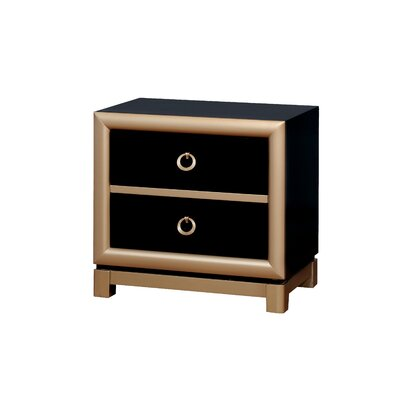 Cobbett Contemporary 2 Drawer Nightstand