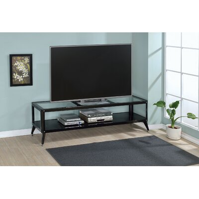 Franklinville Contemporary 60-72 TV Stand Color: Black, Width of TV Stand: 72