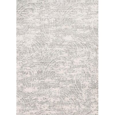 Saunders Contemporary Gray/Ink Area Rug