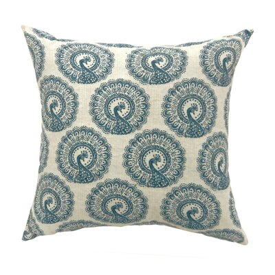 Turton Contemporary Throw Pillow Color: Blue, Size: 22 x 22