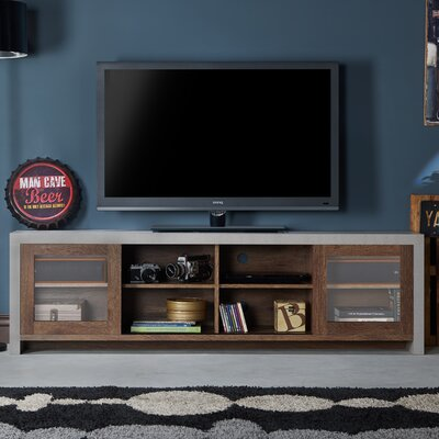 Behan Transitional 70.86 TV Stand Color: Distressed Walnut