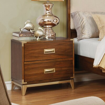 Dreyer Transitional 2 Drawer Nightstand