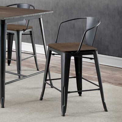 Kayman Industrial Counter Height Dining Chair