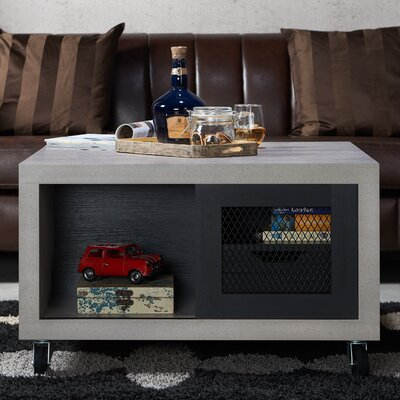 Desantiago Transitional Coffee Table Finish: Black