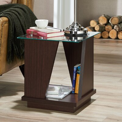Rubina Contemporary End Table Color: Walnut