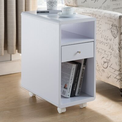 Duyen Contemporary End Table Color: White