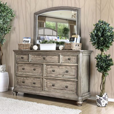 Gaetan Transitional Dresser with Mirror