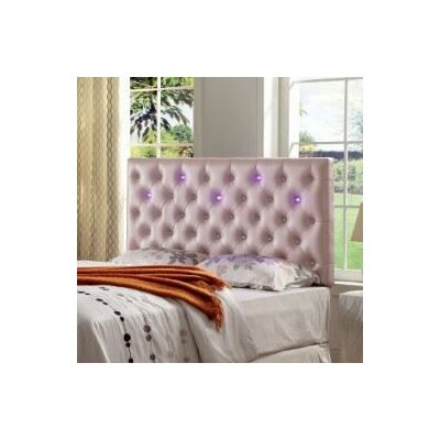 Fauler Contemporary Upholstered Panel Headboard Upholstery: Pink, Size: King