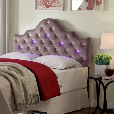 Artemis Contemporary Upholstery Headboard Size: King