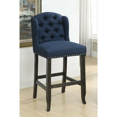 Lesly Upholstered Dining Chair Upholstery: Blue