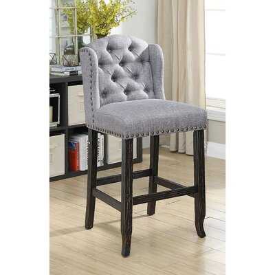 Lesly Upholstered Dining Chair Upholstery: Light Gray