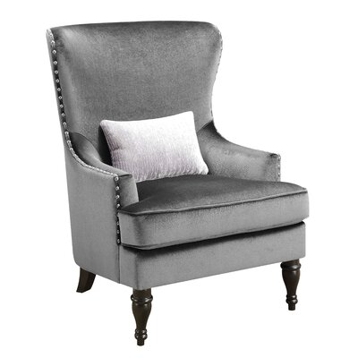 Treshon Wingback Chair Upholstery: Gray