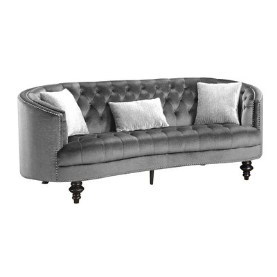 Treshon Chesterfield Sofa Upholstery: Gray