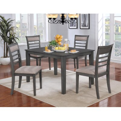 Romel Dining Set Color: Gray