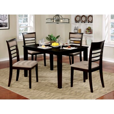 Romel Dining Set Color: Espresso