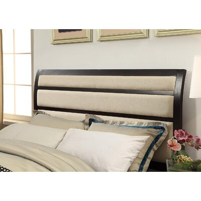 Alona Transitional Upholstered Panel Headboard Color: Espresso, Size: 50 H x 79.38 W x 88.63 D