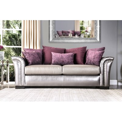 Calton Contemporary Sofa Upholstery: Pewter/Purple
