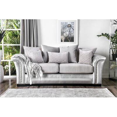 Calton Contemporary Sofa Upholstery: Silver/Gray