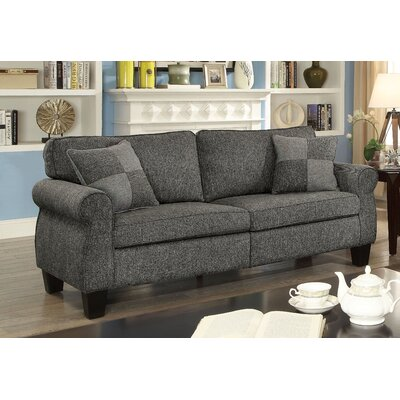 Felton Transitional Sofa Upholstery: Dark Gray
