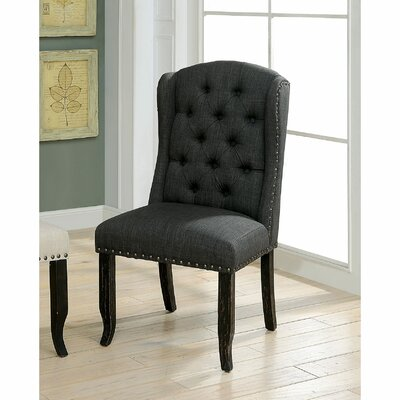 Tennessee Contemporary Dining Upholstered Dining Chair Upholstery: Gray