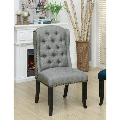 Tennessee Contemporary Dining Upholstered Dining Chair Upholstery: Light Gray